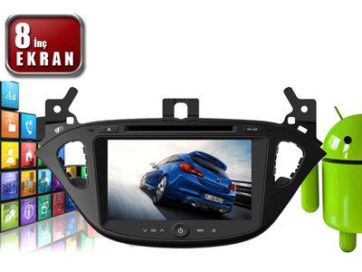 Corsa E 8 İnç Android'li DVD ve Multimedya Sistemi