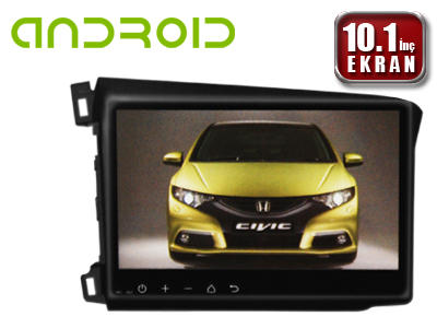 Honda Civic 2012 10.1 İnç Android'li DVD ve Multimedya Sistemi