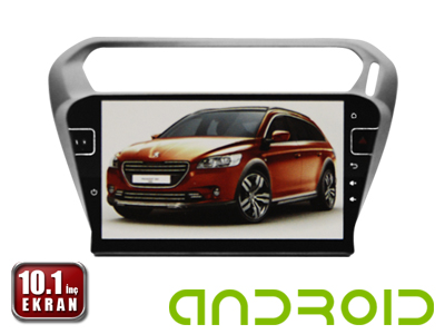 Peugeot 301 10.1 İnç Android'li DVD ve Multimedya Sistemi